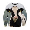 All Over Printed  Black Cow Shirts