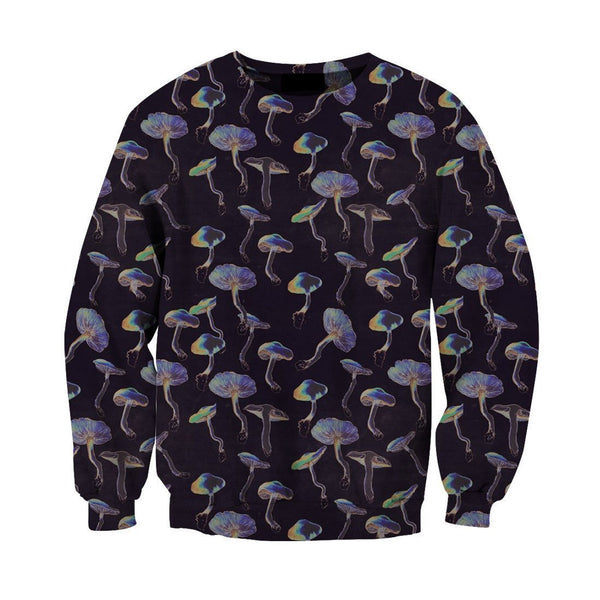 3D All Over Print Black Backgroud Mushroom