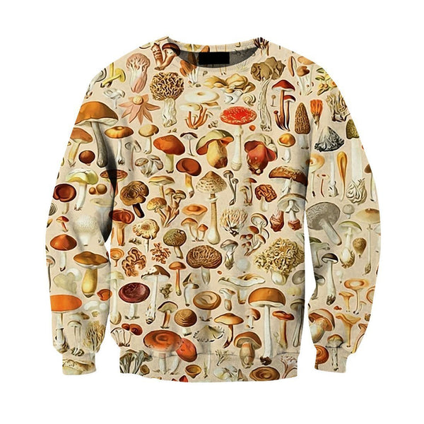 All Over Print beautiful forest mushrooms