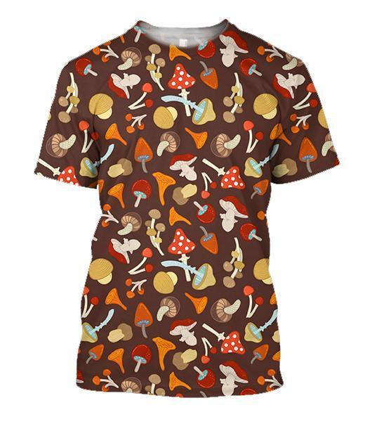 3D All Over Printing Red Mushroom Shirt