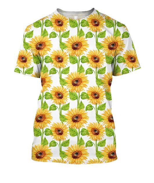 All Over Printing Beautiful Sunflowers Shirt