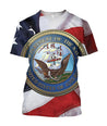 All Over Printed Department Of The Navy Logo Shirts - Jumanteez - Apparel