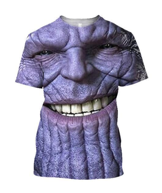 3D All Over Print Thanos Face - Jumanteez - Apparel