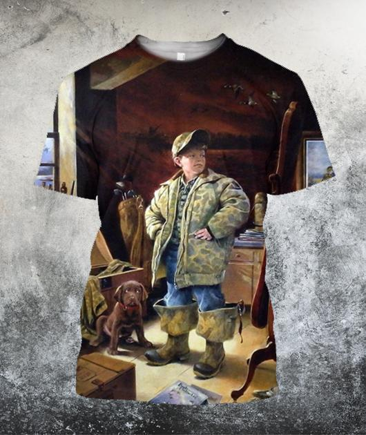 Great Ducks Unlimited Hunting Dog 3D All Over Printed Shirts
