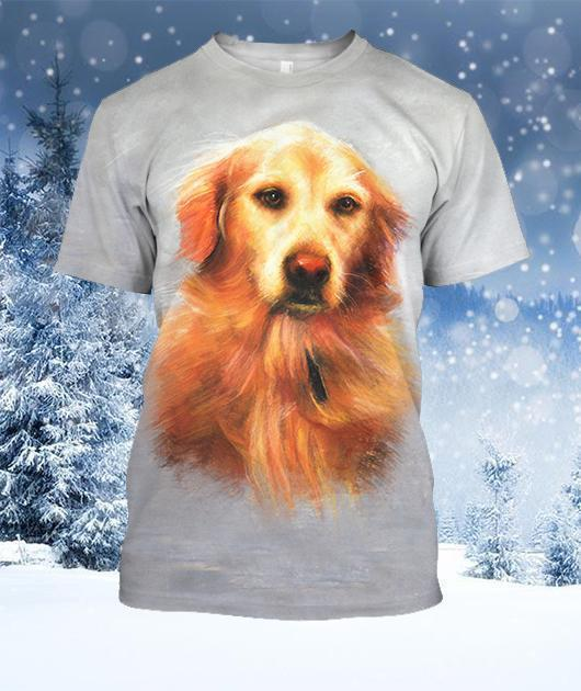3D All Over Print Yellow Dog Shirts