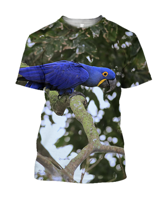 3D All Over Print Beautiful Blue Macaw Parrot Hoodie