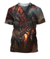 3D All Over Printing Lava Dragons Shirts