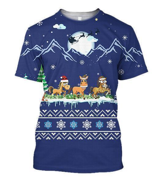 All Over Print Horse On Christmas