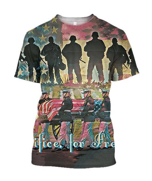 All Over Printed Sacrifice For Freedom Shirts - Jumanteez - Apparel