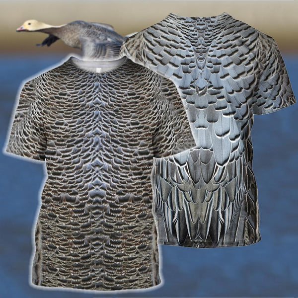 3D All Over Printed Royal Goose Shirts