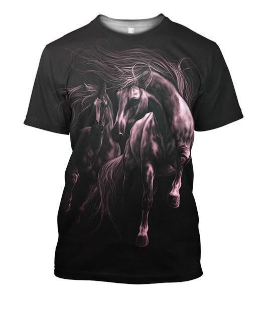 3D All Over Print Horse Light 2 Shirts