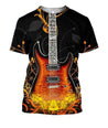 3D All Over Print Electro Guitar Shirts