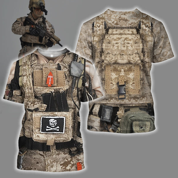 3D All Over Printed U.S. NAVY Seal Team Six Uniform