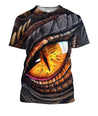 3D All Over Print Dragon's Eye Hoodie T-Shirt