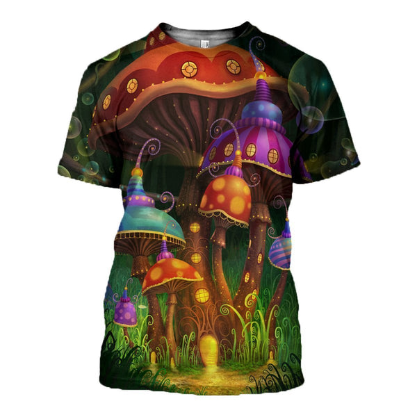 3D All Over Printed Halloween Mushroom Shirts and Shorts