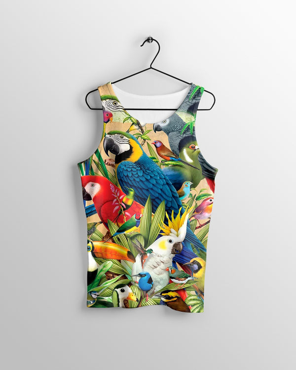 All Over Printed Parrots Shirts H201B