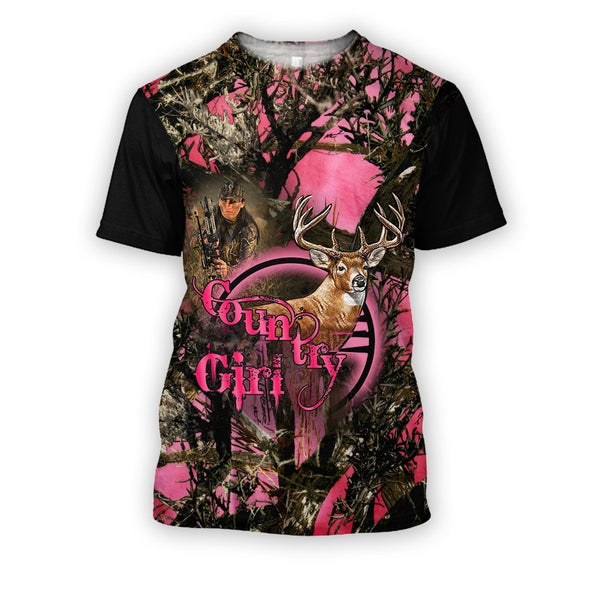 All Over Printed Hunting Deer Country Girl