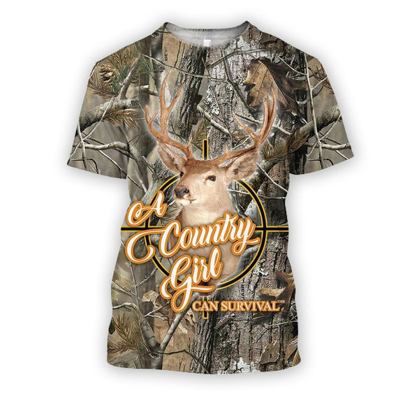 All Over Printed Country Girl Can Survival