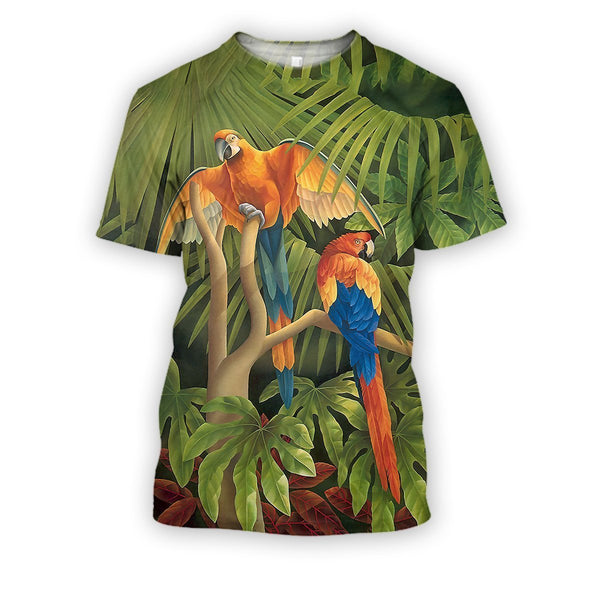 All Over Printed Parrots Shirts H252B