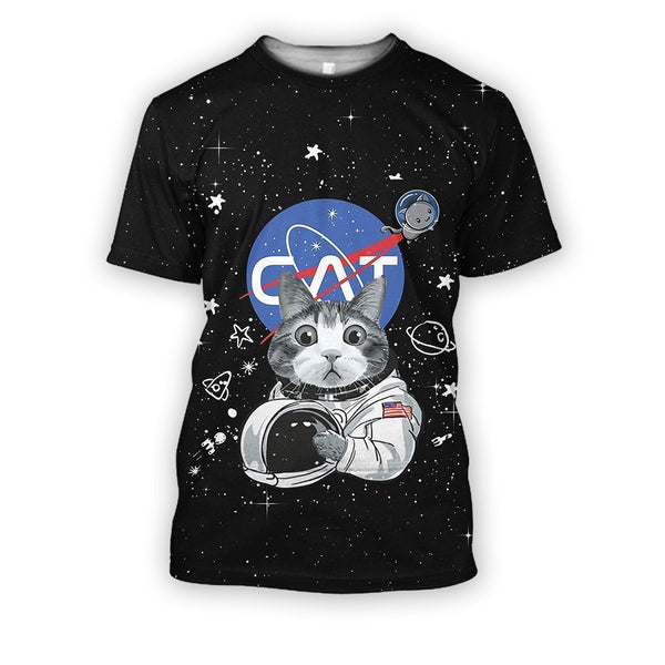 3D all over print cat astronaut