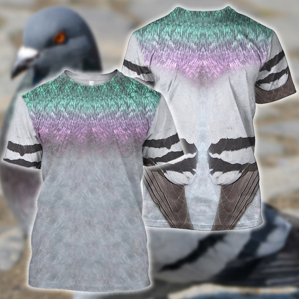 3D All Over Printed Pigeon Cover Shirts and Shorts