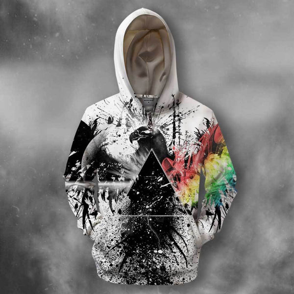 3D All Over Print Red White & Floyd Hoodie