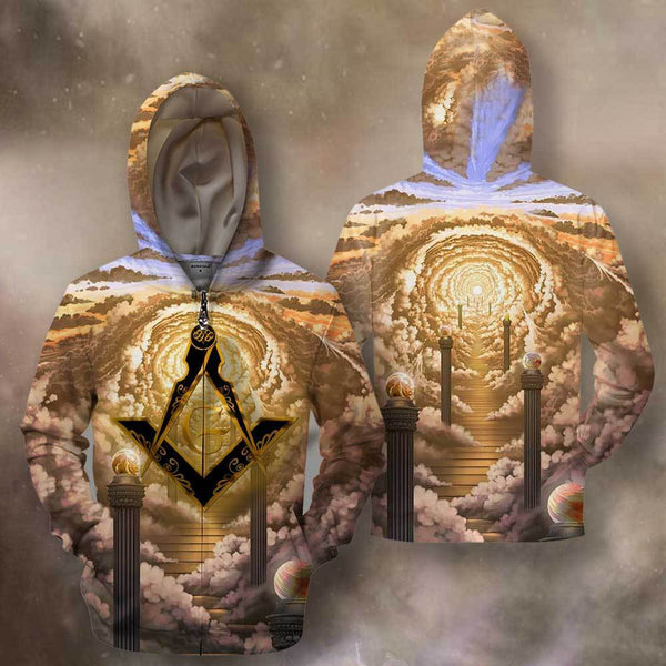3D All Over Print Shattering Illusions Hoodie