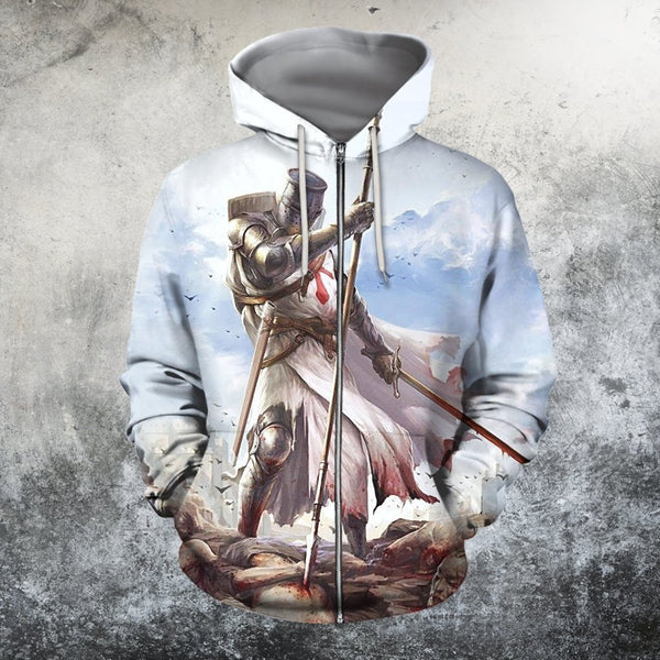 3D All Over Printed Knights Templar T-shirt Hoodie