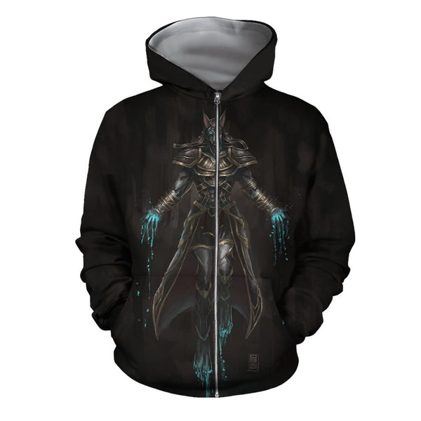 3D All Over Print Pin Anubis Hoodie