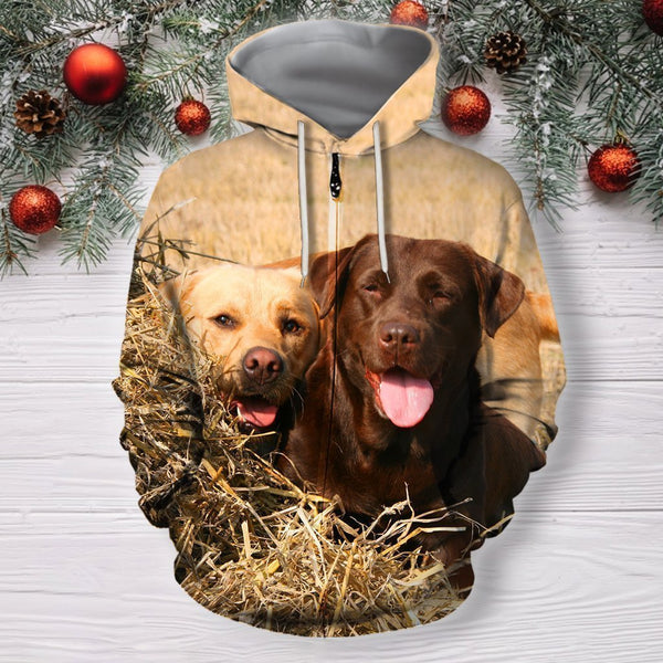 3D All Over Print Dog Labrador Shirts