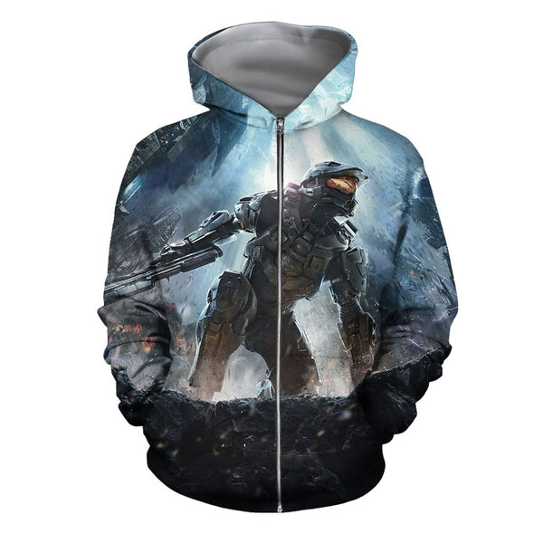 3D All Over Print Halo Game Hoodie