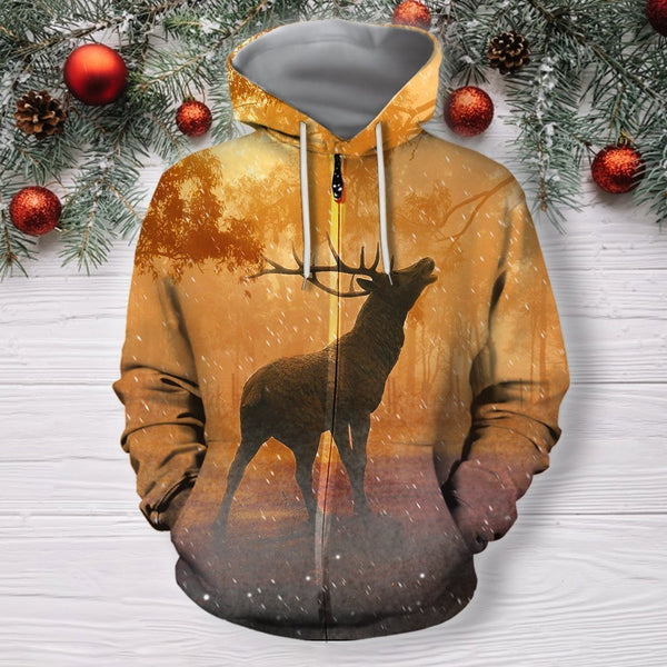 3D All Over Print Deer On Autumn Shirts