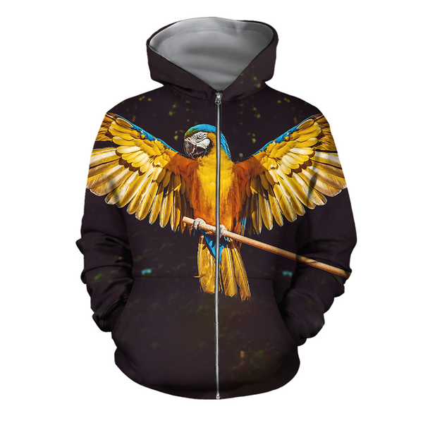 3D All Over Print Parrots Wings Hoodie