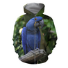 3D All Over Print Blue Macaw Parrot Hoodie