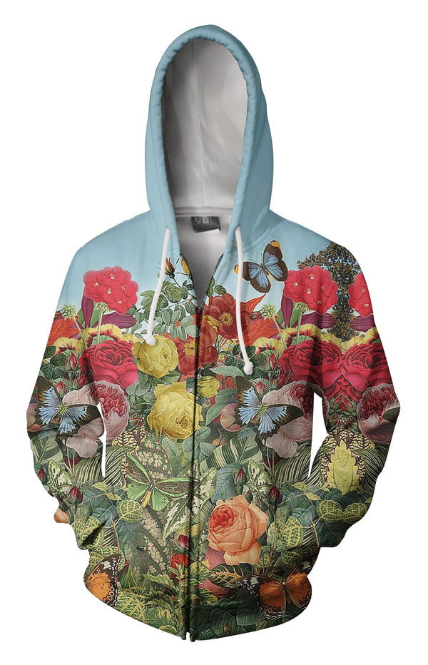 All Over Printing Butterfly Garden Hoodie