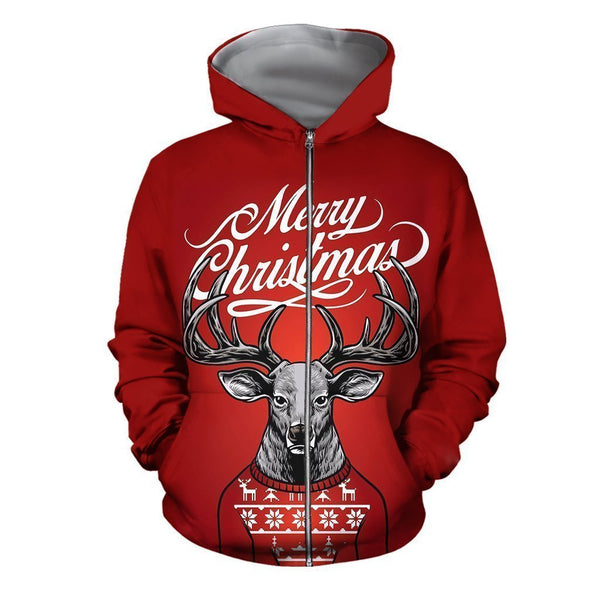 3D All Over Printed Deer Christmas Shirts Special