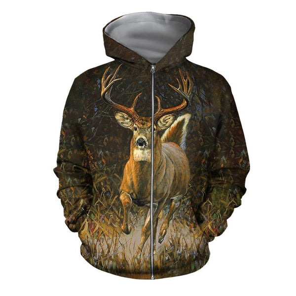 3D All Over Printed White-tailed deer Clothes