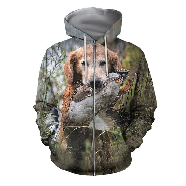 All Over Print Hunting Dog Clothes