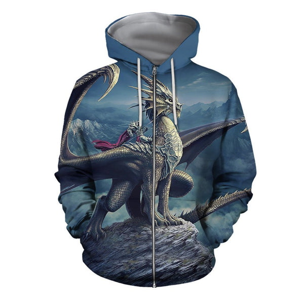 All Over Print Dragon Hoodie