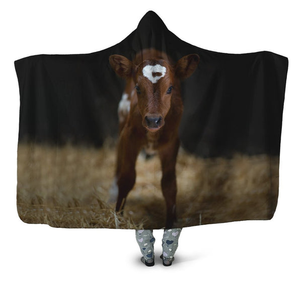 Beautiful Baby Cow Hoodie Blanket