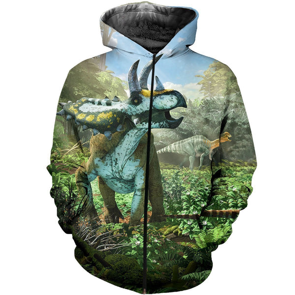 3D All Over Printed Coahuilaceratops Dinosaurs Art Shirts And Shorts