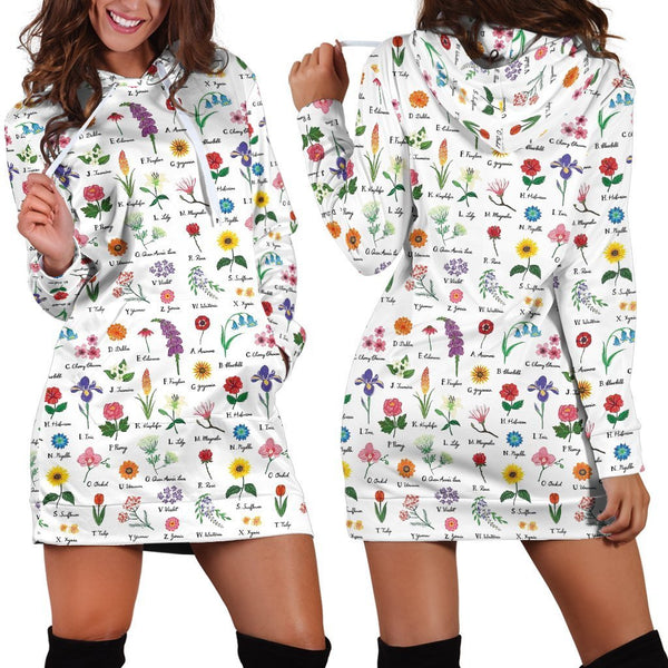 Beautiful Flowers Hoodie Dress