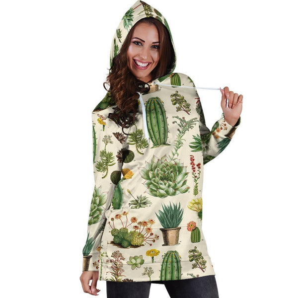 3D All Over Cacti Hoodie Dress