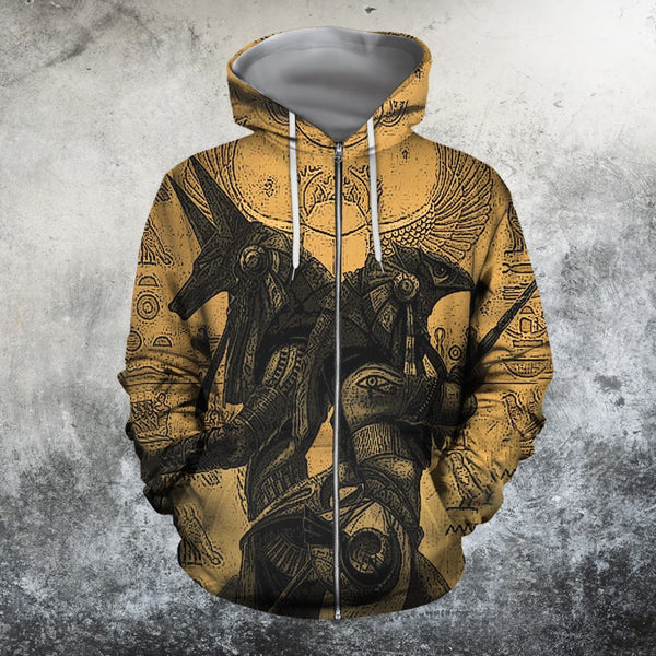 3D All Over Print ANUBIS AND OSIRIS Hoodie