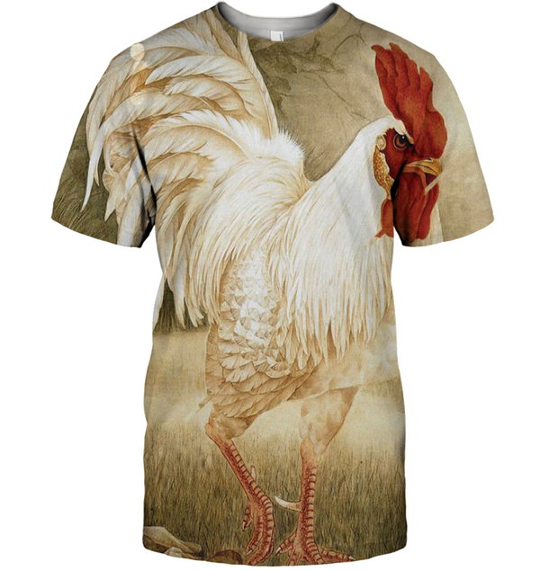 3D All Over Print Painting Rooster Shirt