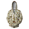 All Over Print Champignons Hoodie
