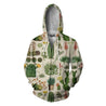 3D All Over Print Cacti Hoodie