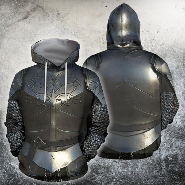 3D All Over Printed Knight Medieval Armor Tops