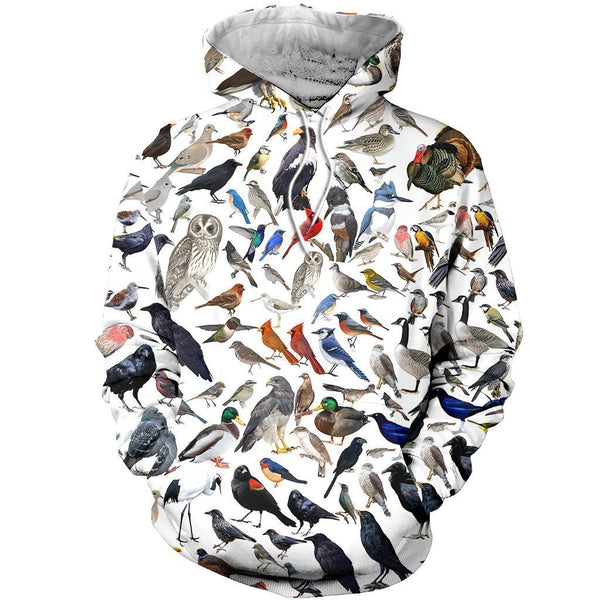 3D All Over Printed Birds Clothes