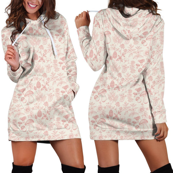 All Over Printing Red Pink Premium Hoodie Dress